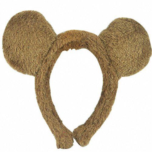 [NoveltyBoy Halloween Costume Animal Headdress Ear Headbands Kindergarten Cartoon Ear Hair Hoops (Onesize, Bear)] (Dear Animal Costume)