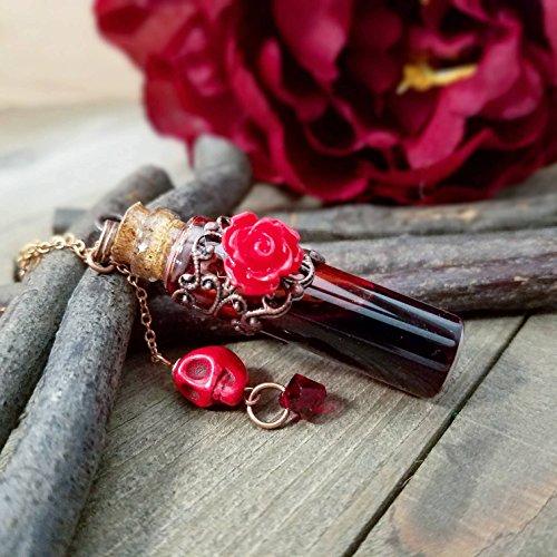 Blood vial necklace | Blood necklace | vial necklace | vampire blood | blood jewelry | Gothic vampire necklace | Wanderlust Hearts Original Design © ()
