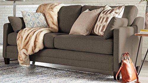 Serta Carmina Sofa, Chenille Fabric, Ash