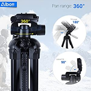 Albott 70 Inch Digital SLR Camera Aluminum Travel Portable Tripod Monopod with Carry Bag
