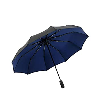 Lanker KS05P Paraguas de Viaje, 10 Varillas, Resistente al Viento, Revestimiento de teflón