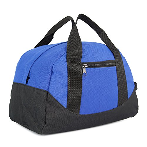 "DALIX 12"" Mini Two Tone Duffle Bag in Royal Blue"