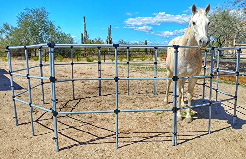 (Portable Horse Corral Box Set: Econoline- 8 Panels; 3 Rails)