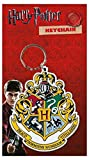 Harry Potter Keyring Keychain Hogwarts Crest Logo Official White Rubber