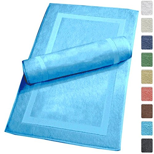 Luxury Hotel and Spa 100% Turkish Cotton Banded Panel Bath Mat Set 900gsm! 20