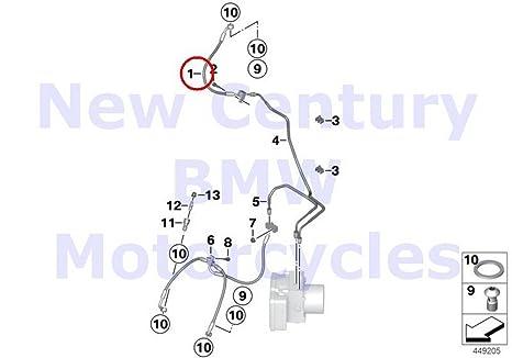Amazon.com: BMW Genuine Motorcycle ke Pipe Front Front ... on k1300s wiring diagram, k1200lt wiring diagram, s1000rr wiring diagram, r1200rt wiring diagram,