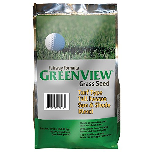 (GreenView Fairway Formula Grass Seed Turf Type Tall Fescue Sun & Shade Blend, 10 lb Bag)