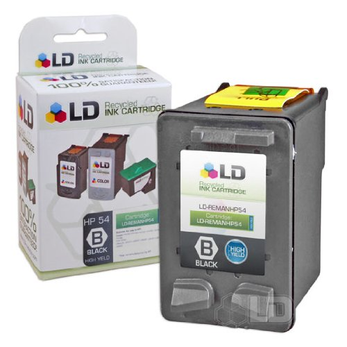 (LD Remanufactured Ink Cartridge Replacement for HP 54 CB334AN High Yield (Black))