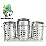 Parasnath Stainless Steel Cutlery Holder (Set of 4 Pc)