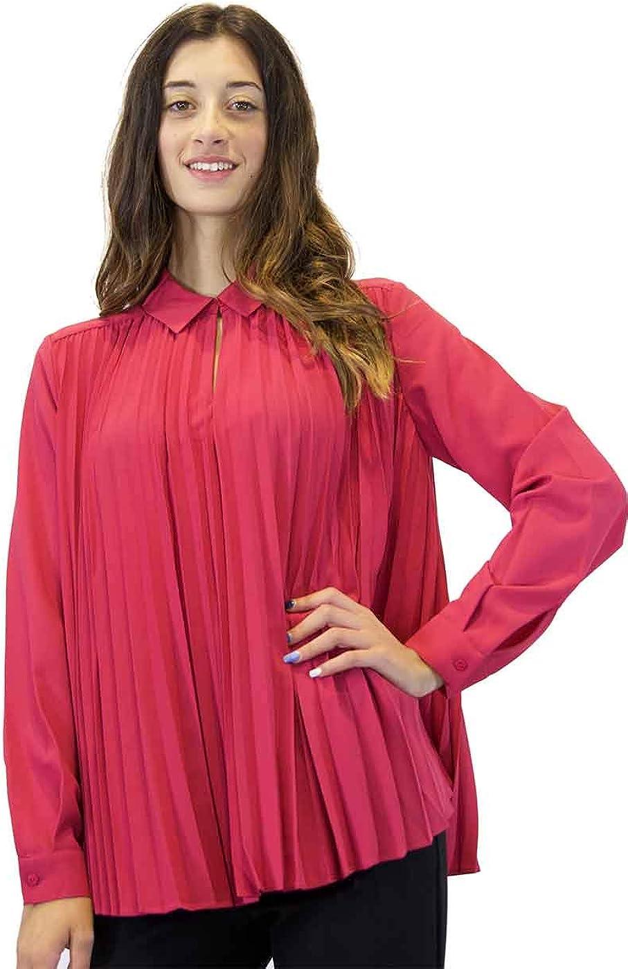 Camisa de Mujer Twinset Plisada Fucsia. O/I 2020/21 ...