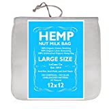 Organic Hemp Nut Milk Bag - Extra Large 12