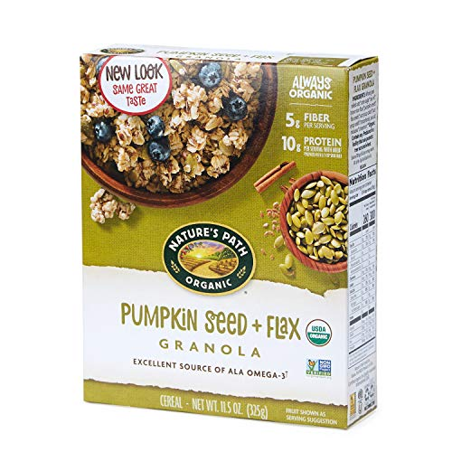 Nature's Path Organic Granola Cereal, Pumpkin Seed Plus Flax, 11.5 Ounces, 12 Count