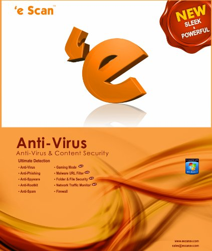 eScan Anti-virus for Home User 1 user 1 year [Download] by Microworld technologies Inc
