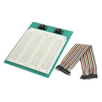 DealMux SYB-500 soldadura PCB Testing Breadboard w 40 Kit Pin M / M de alambre de puente: Amazon.es: Electrónica