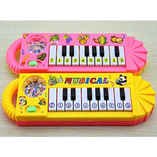 Popular Plastic Baby Electronic Keyboard Piano With Lovely Pictures Color Random Kid Toy Musical Instrument