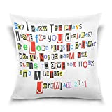 ALAZA Pillowcase Covers Bible Verse Jeremiah 29 11 Colorful Collage Style Cotton Velvet Throw Pillows 18x18 Inch Double Sided Zipper Pillowcase for Decorative Pillows