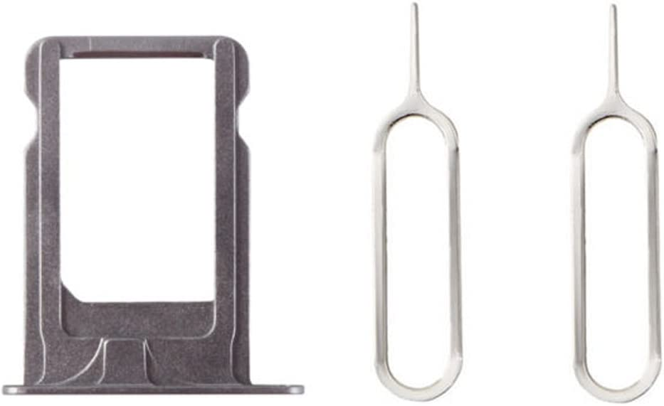 Nano Sim Card Slot Tray Holder Free 2 Eject Pins for iPhone 5S Gray