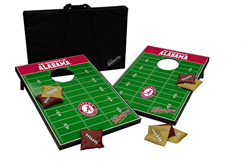 Wild Sports NCAA Tailgate Toss Cornhole Set-Alabama Crimson ()