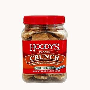 Hoody's Peanut Crunch, 16-Ounce Plastic Jars (Pack of 6)