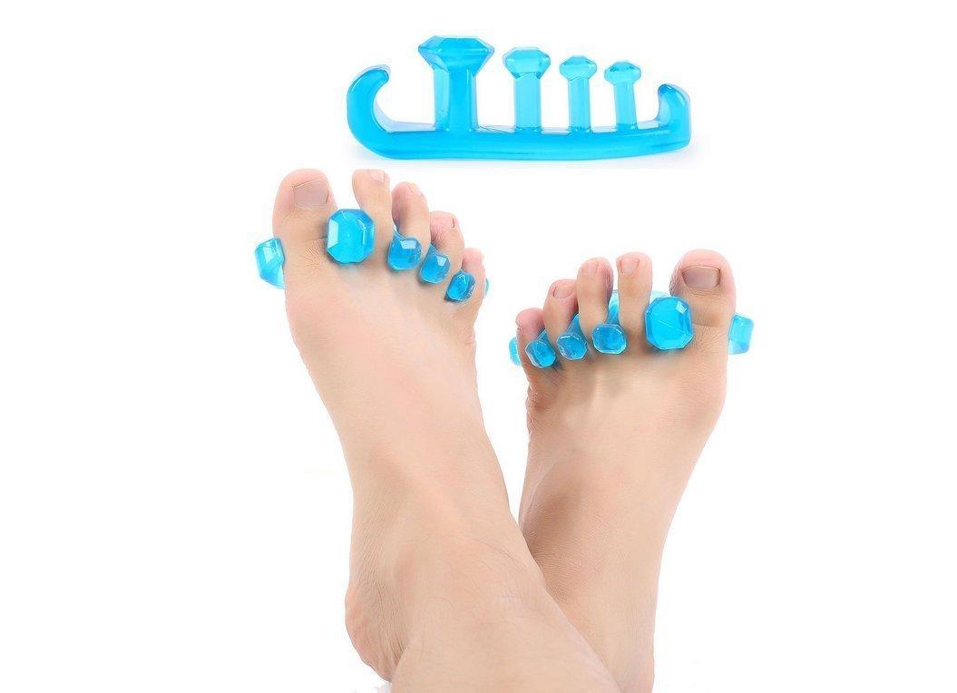 azul reduce el dolor de pies tfxwerws 2pcs separador de dedos de los pies