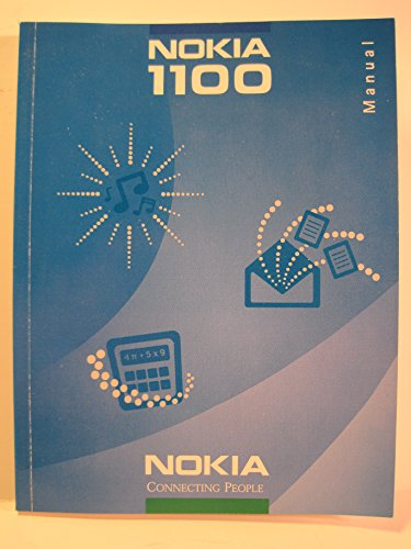 Nokia 1100 Cell Phone User's Manual (1100 Phone Cell)