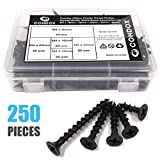 Comdox 5 Size 250 Pack Coarse Thread Phillips Drywall Screws with Bugle Head, Ideal Screw for Drywall Sheetrock, Wood, and More