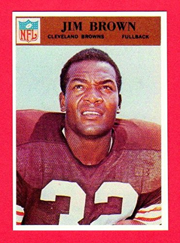 - Jim Brown 1966 Philadelphia Gum Co. Football Reprint Card with Original Back **Last Card Issued** (Browns)