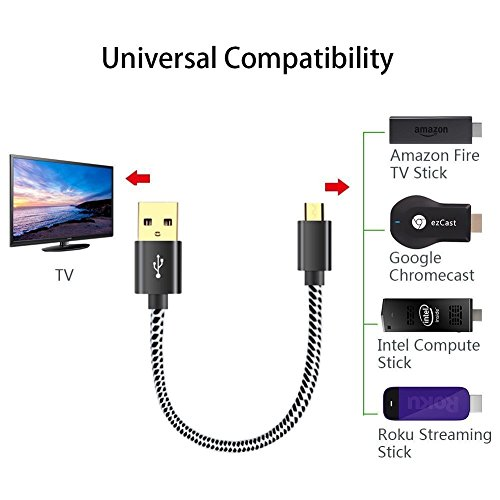 USB Power Cord For Streaming Stick Up Your Form TV/'s Port Cable Stick Roku 2 8