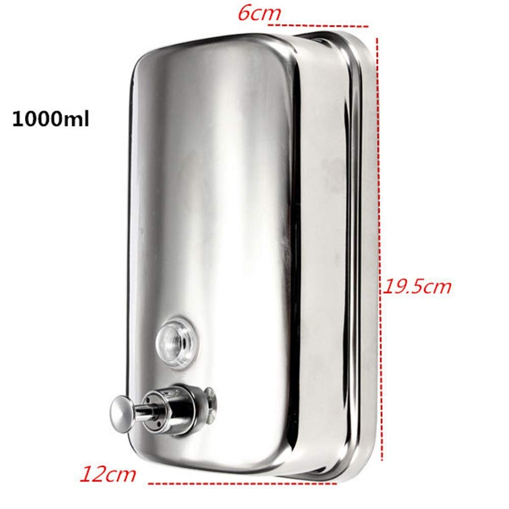 Tuersuer Easy to Assemble Wall-Mounted Soap Dispenser Stainless Steel Liquid Soap Box for Kitchen Bathroom,1000ml