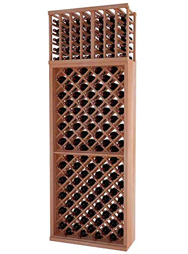 (Designer Series Wine Rack - Individual Diamond Bin - 8 Ft - Mahogany Unstained - No Lacquer)