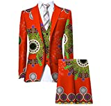 Winwinus Men Pants Africa Dashiki Vest Set 3-Piece Premium Business Suit 9 5XL