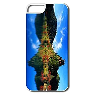 Case For Iphone 4/4S Cover, Autumn Reflection Japan Cases Case For Iphone 4/4S CoverWhite Hard Plastic