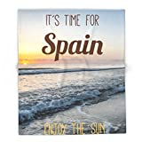 Society6 Time For Spain 88'' x 104'' Blanket