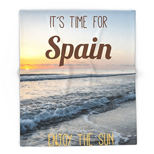 Society6 Time For Spain 88'' x 104'' Blanket by Society6
