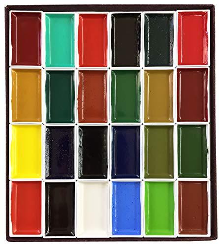 길상 일본화용 그림구 각안채 채상제 24색