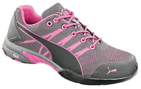 PUMA Safety 642915 Women's Celebrity Knit SD Low Shoe, Pink - 8.5