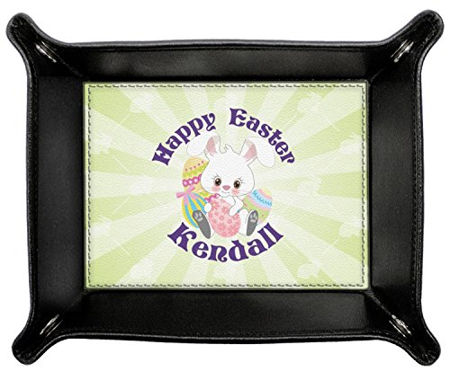 Easter Bunny Genuine Leather Valet Tray (Personalized) by RNK Shops