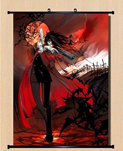 Anime Hellsing Home Decor Wall Scroll Poster Fabric Painting Alucard / Seras Victoria /RUINS 23.6 x 31.5 Inches-05 ()