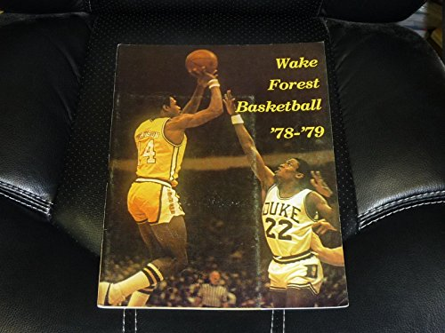 1979 College Basketball (1978 1979 WAKE FOREST COLLEGE BASKETBALL MEDIA GUIDE FRANK JOHNSON EX-MINT)