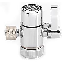 Válvula de desvío de grifo de 3/8 pulg. Conector de filtro de agua superior Adaptador de grifo de desagüe sin fuga