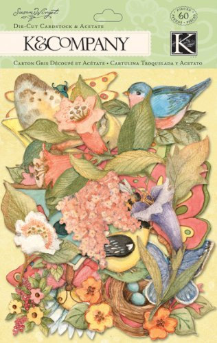 K&Company Susan Winget Spring Blossom Die-cut Cardstock & Acetate, Icons [並行輸入品] B07TBSPBJ9