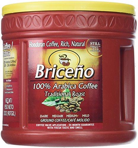 DELICIOUS Briceño Coffee Traditional (2LB) - 100% HONDURAN Latin Pure Coffee