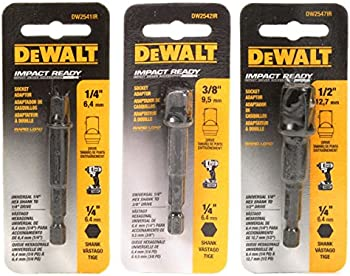 DeWalt hex-shank to square drive adapters