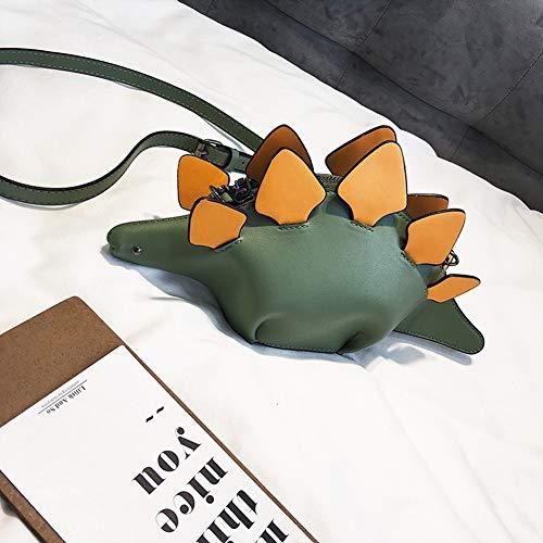 Sveglio Pelle Catena Green Cartoon Personalità 3d Imzoeyff A Da In Borsa Totes Dinosauro Donna Tracolla Messenger green qnwwIzA4P
