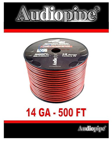 500 FT 14 Gauge Red Black Stranded 2 Conductor Speaker Wire Car Home Audio 500' Lead Wire