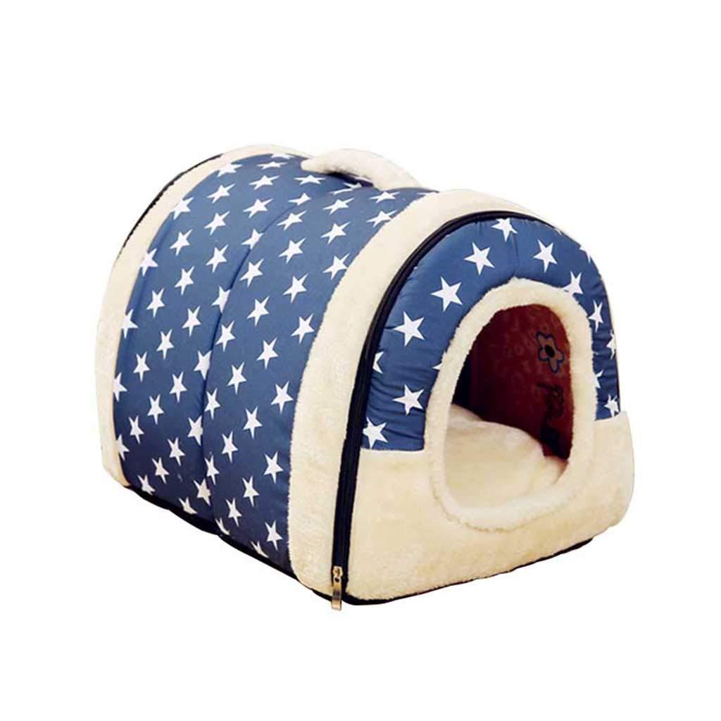 QHD Lettiera per Gatti, Sacco a Pelo Invernale Caldo Gatto Lavabile Pieghevole Cat Cat Forniture Canile (colore   A, Dimensioni   60  45  45cm)