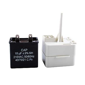 Podoy W10613606 relé de arranque del compresor de refrigerador con ...