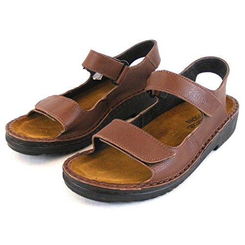 Naot Damen Schuhe Sandaletten Karenna Leder Mittelbraun 13675 Wechselfußbett