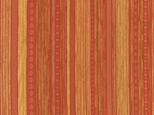 Landhaus Möbelstoff Kitzbühel Farbe 18 (terra, Gelb, Braun)   Modernes  Chenille Flachgewebe (gemustert, Gestreift) Polsterstoff, Stoff,  Bezugsstoff, Eckbank ...