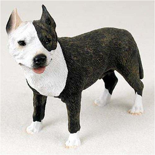 (Pit Bull Terrier, Brindle Original Dog Figurine (4in-5in))